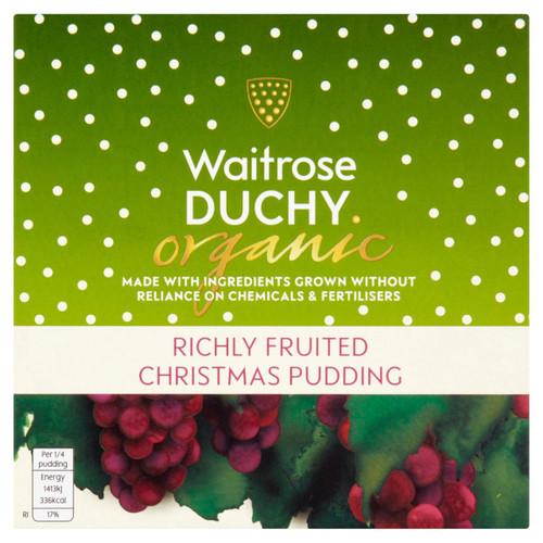 Waitrose Duchy Organic Christmas Pudding 454g