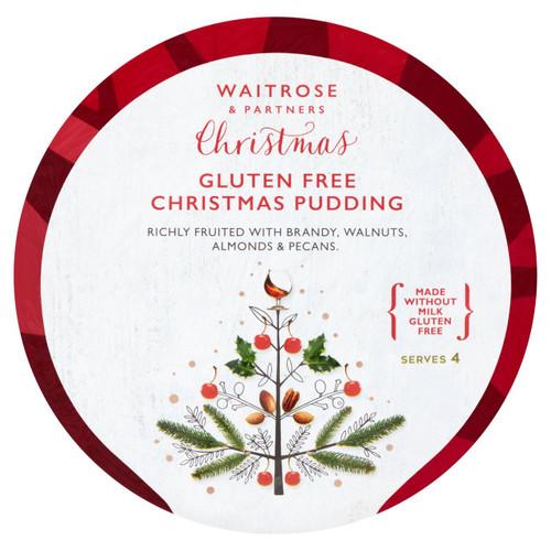 Waitrose Christmas Gluten Free Christmas Pudding 400g