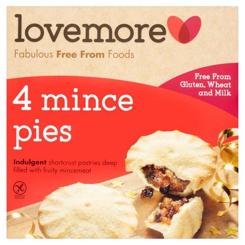 Lovemore Gluten Free Luxury Mince Pies 4 per pack