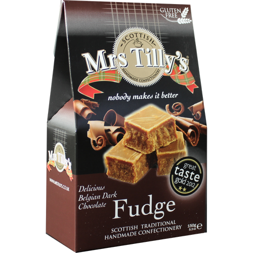 Mrs Tilly's Belgian Chocolate Fudge Gift Box 150g