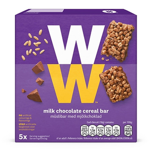 Weight Watchers Milk Chocolate Cereal Bar 5 x 18g