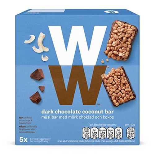 Weight Watchers Dark Chocolate & Coconut Cereal Bar 5 x 18g