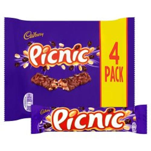 Cadbury Picnic Bars 4x 48g Bars