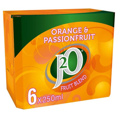 J2O Orange & Passion Fruit Fridge Pack 6 x 250ml