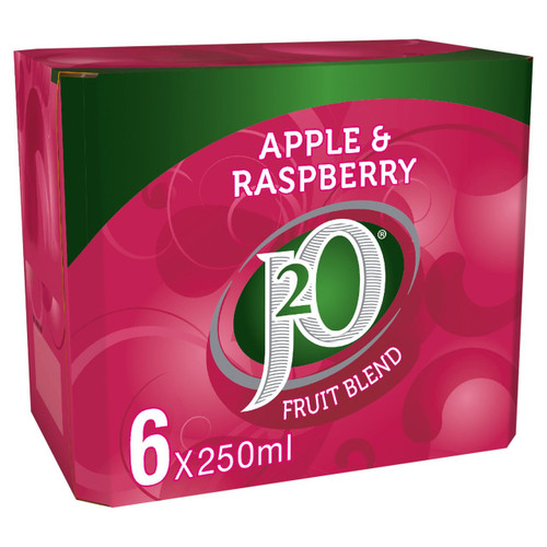 J2O Apple & Raspberry Fridge Pack 6 x 250ml