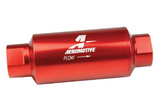 Aeromotive 10 Micron, ORB-10 Red Fuel Filter 12301