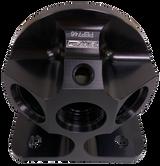 Patterson Elite Billet Remote Oil Filter Mount - Black Anodized