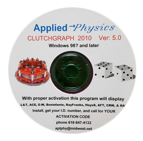 Applied Physics CLUTCHGRAPH 2010 Software