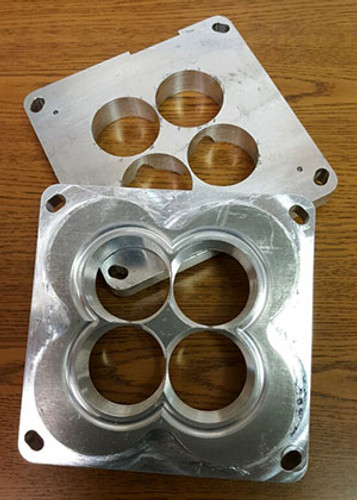 Nice Used CNC Pair of Patterson Elite Custom Carb Spacers