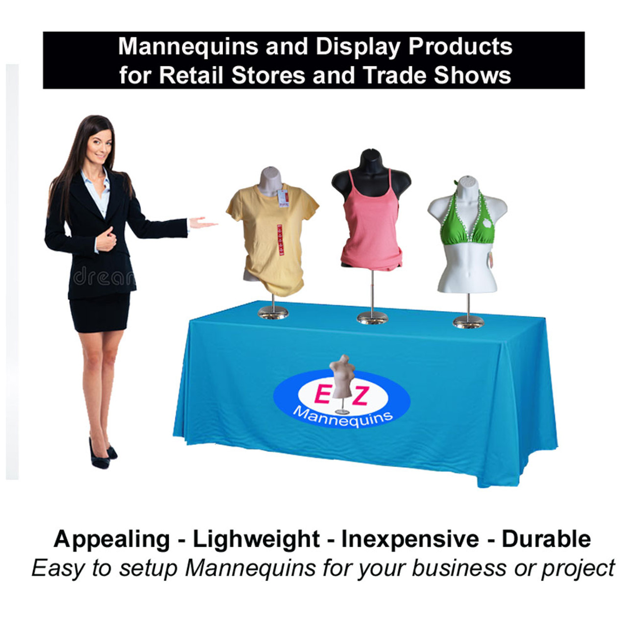 Deluxe Female Mannequin with Base