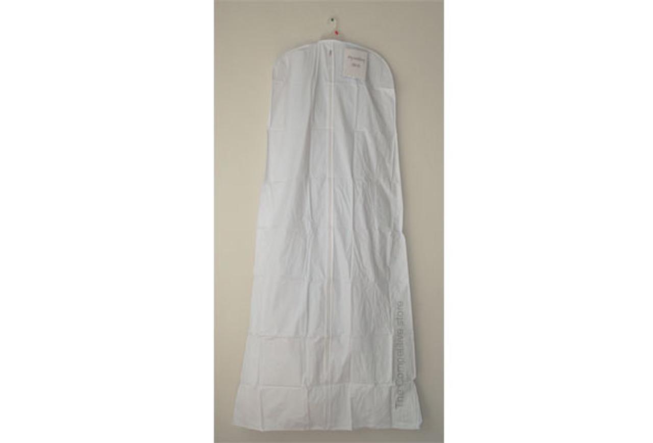 """Vinyl Gown Garment Bag 36"""" x 72"""" White Color - 6 pieces"""