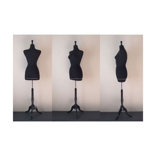 Black Female French Mannequin Dress Form
