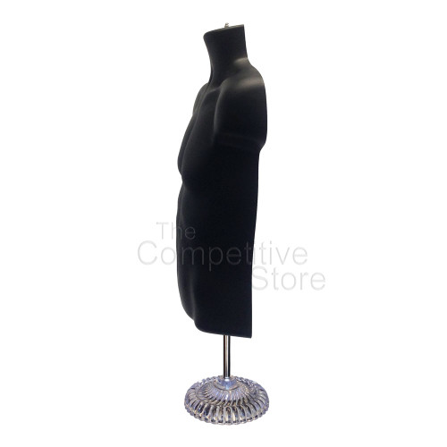 Male Torso Mannequin with Plastic Base