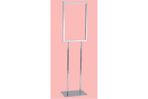 "22"" X 28"" Sign Holder With 10"" X 14"" Base - Chrome"