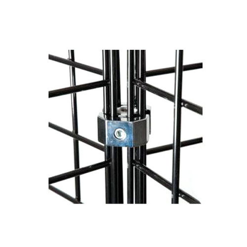 4 Gridwall Way Grid Connector For Grid Panel - Black