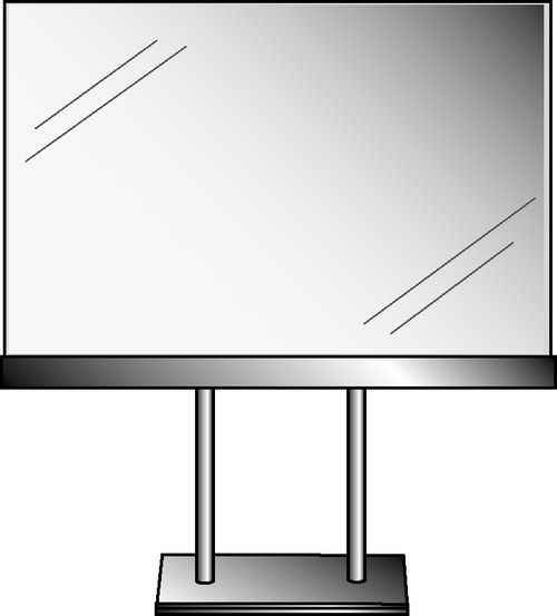 """5-1/2""""H X 7""""W Acrylic Sign Holder With Base"""