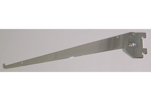 "14"" Adjustable Wedge Type Shelf Bracket Chrome"