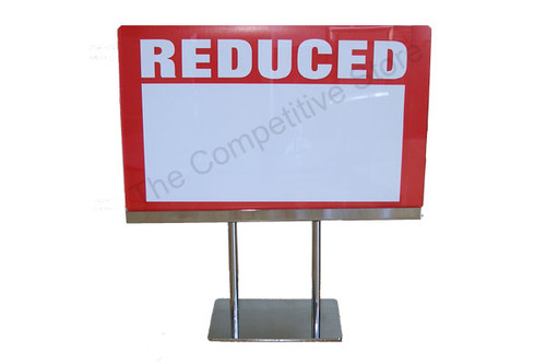 """7""""H X 11""""W Acrylic Sign Holder With Base"""
