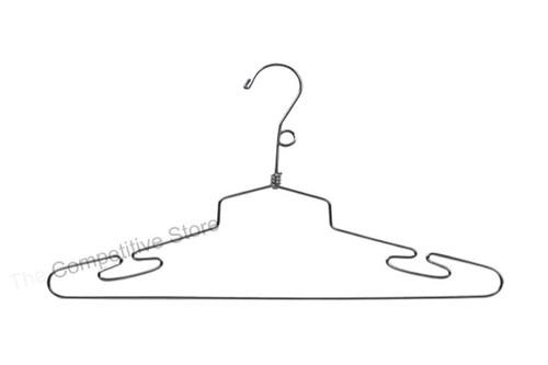 """16"""" Metal Steel Lingerie Hanger With Loop Hook And Twist Joint"""