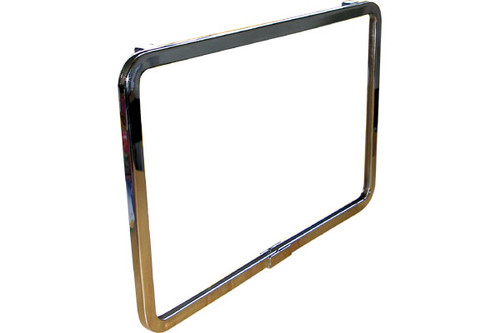 """7"""" X 11"""" Chrome Plated Sign Holder For Gridwall"""