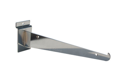 "6"" Slatwall Knife Shelf Brackets With Lip - Fits All Slat Panels"