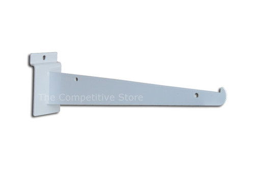 "12"" Slatwall Knife Shelf Brackets With Lip - Fits All Slat Panels"