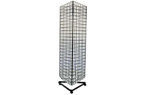 Gridwall Triangle Base With Casters For Use With Grid Wall Panels