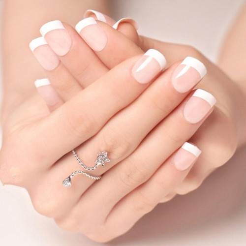 Glue On French Nail Tips