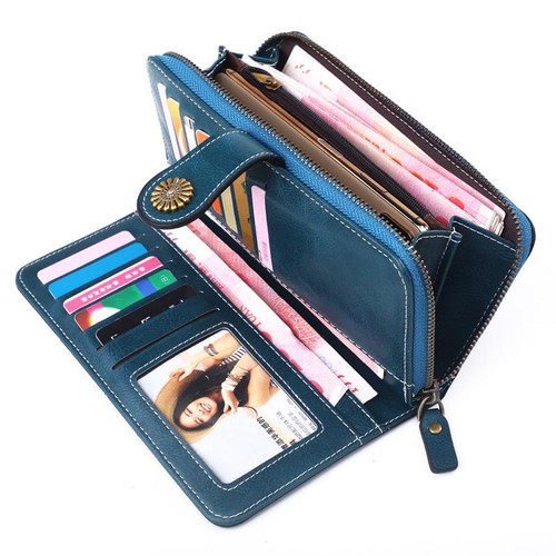 RFID Leather Wallet Purse for Women