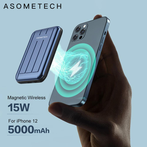 Charge Fast™ MagSafe Ultra-Thin Magnetic Wireless Charging Power Bank 5000mAh