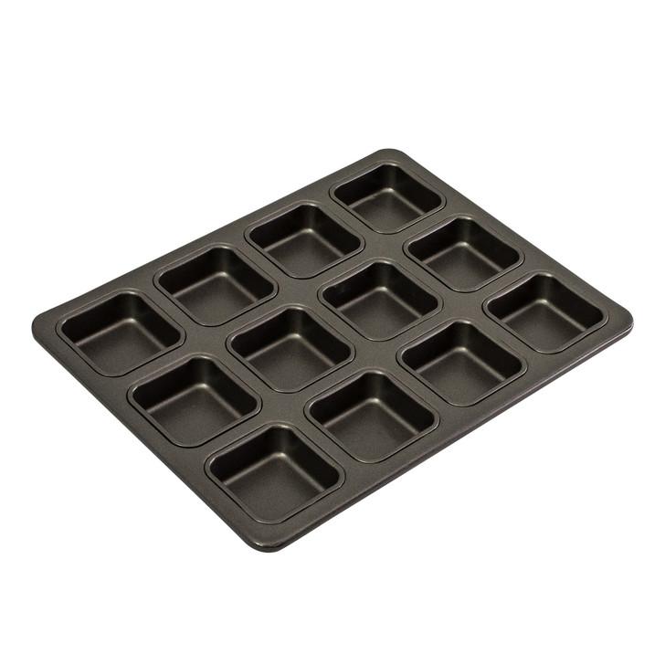 12 Cup Square Brownie Pan, 34 x 26cm/6 x 2.5cm - Non-stick