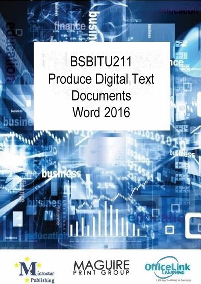 BSBITU211 Produce Digital Text Documents Word 2016