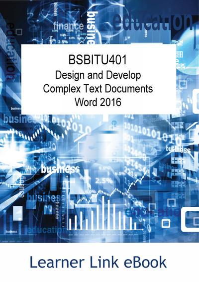 BSBITU401 eBook Complex Word 2016