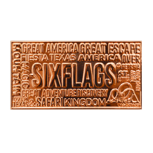 SIX FLAGS COPPER MAGNET
