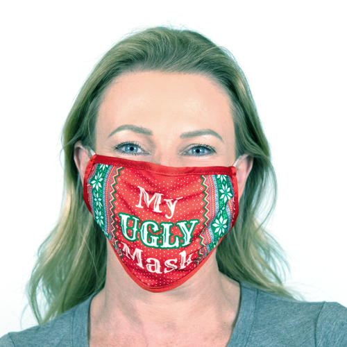 SIX FLAGS HOLIDAY UGLY SWEATER MASK