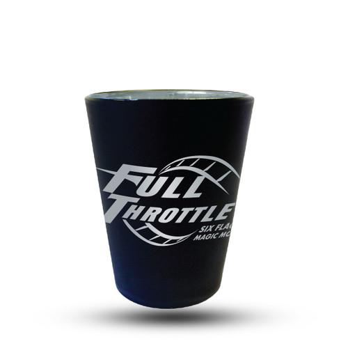 FULL THROTTLE MATTE BLACK SHOT GLASS (SIX FLAGS MAGIC MOUNTAIN)