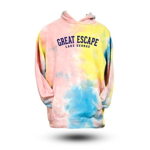 The Great Escape Cotton Candy Tye Dye Hoodie
