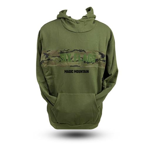 Magic Mountain Green Camouflage Hoodie