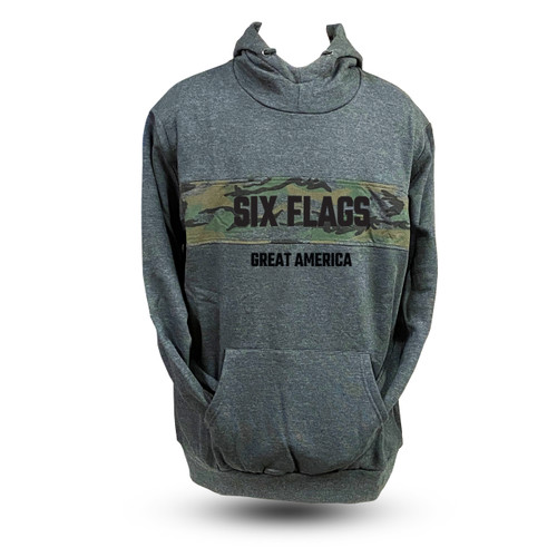 Great America Gray Camouflage Hoodie