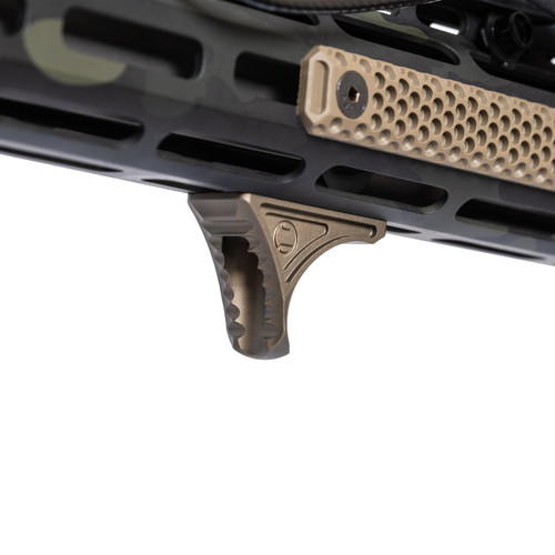 Karve® Hand Stop on SMOS Multicam Black AR-15 with HTP FDE MiniDot Scales