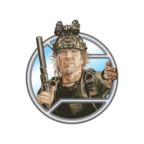 """Grab Brohdi the """"Sky God"""" and other AR-15 stickers from RailScales Patrick Swayze Point Break Sky Diving PVS 15 night vision Glock 17"""