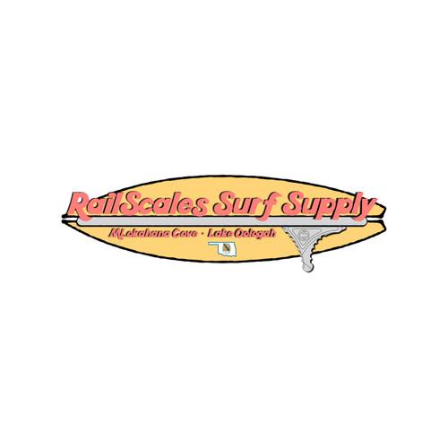 RailScales Surf Supply PVC Sticker