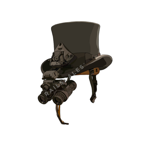 Highbrow Society Top Hat PVC Sticker from RailScales