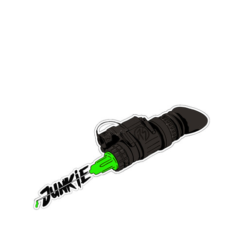 NVG Junkie PVC Vinyl Sticker from RailScales