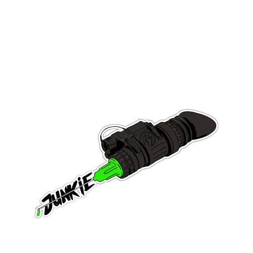 NVG Junkie PVC Vinyl Sticker from RailScales