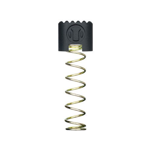CSMR AR15 Magazine Release Button. Angled Magazine Release Button for the AR15 with a Yellow Zinc coated spring.