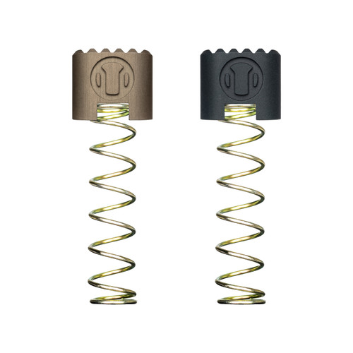 CSMR AR15 Magazine Release Button in Terra Bronze and Carbon Black. 302 Mag Springs