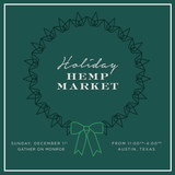 The Inaugural Holiday Hemp Market in Austin, Texas 2019