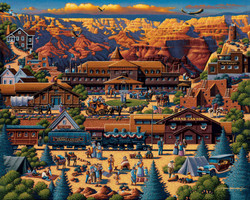 Artist Eric Dowdle has captured the magnificent essence in this delightful image of Grand Canyon National Park. Whether you have visited the park previously, or look forward to visiting at some future time, this puzzle will provide much enjoyment to those who undertake it.