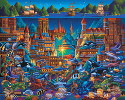 Explore the lost city of Atlantis while building this amazing and highly interesting puzzle from Dowdle Folk Art.